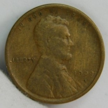 1909-S Lincoln Wheat Cent - First Year of Issue - Well Outlined with Some Detail in Wheat and Clear Date/Mint Mark