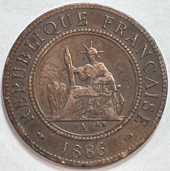 1886A French Indochina Cent