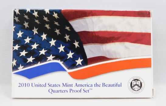 2010 United States Mint America the Beautiful Quarters Proof Set  - Comes with Original Box and COA
