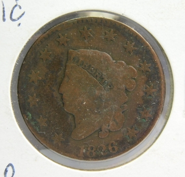 1826 Matron Head Large Cent - LIBERTY Fully Visible