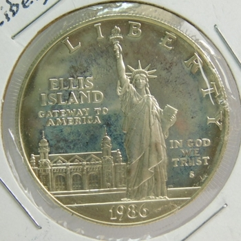 1986-S Proof Liberty Commemorative Silver Dollar - Excellent Detail and DCAM - Minted in San Francisco