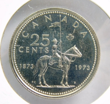 1873-1973 Royal Canadian Mounted Police Centennial Commemorative Quarter