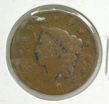 1837 Matron Head Large Cent - Full LIBERTY