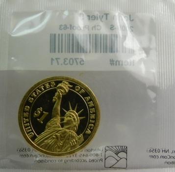 2009-S Brilliant Proof John Tyler Presidential Dollar Custom Package