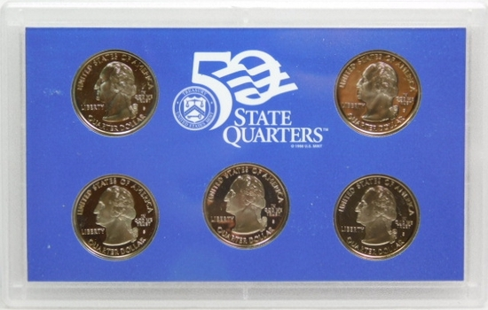 2000 US Mint 50 State Quarters Proof Set in Original Government Packaging