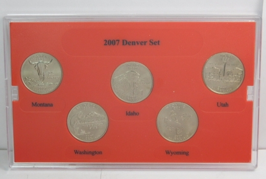 2007 Denver Mint Edition State Quarter Collection Uncirculated