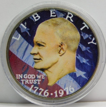 1976 Bicentennial Ike Dollar Colorized Commemorative in Box