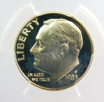 1983-S PCGS PR69DCAM Roosevelt Dime