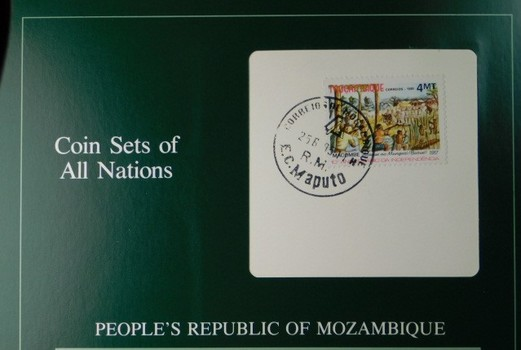 People's Republic of Mozambique - Coin Sets of All Nations - Six Coins with Cancelled Stamp
