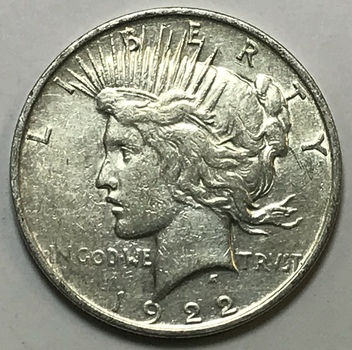 1922-D Silver Peace Dollar - Denver Minted