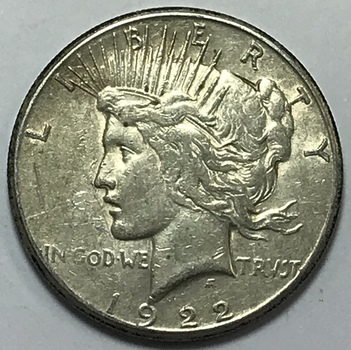 1922-S Silver Peace Dollar - San Francisco Minted
