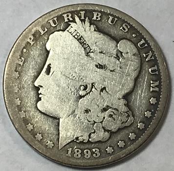 Key Date 1893-CC Carson City Morgan Silver Dollar