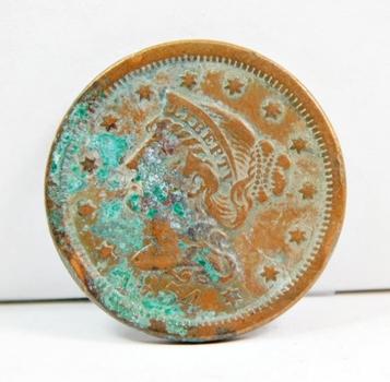 1854 US Large Cent