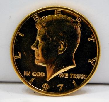 1971 24K Gold Layered Kennedy Half Dollar