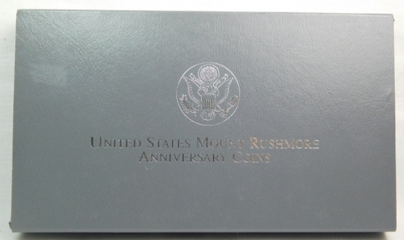 1991-S United States Mount Rushmore Anniversary Silver Proof Dollar - Includes Original Mint Box and COA