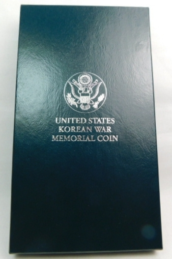 1991 United States Korean War Memorial Proof Silver Dollar - Comes with Original Mint Box and COA