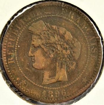France  1896A  10 Centimes  KM-815.1