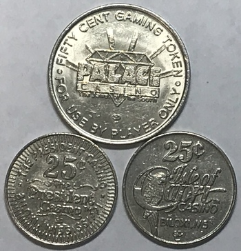 Casino Token Lot - Biloxi, Mississippi - Palace, President and Isle of Capri Casinos