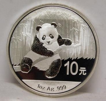 2014 China Silver 10 Yuan - PANDA - 1 Troy Oz  .999 Fine Silver - In Original Mint Capsule