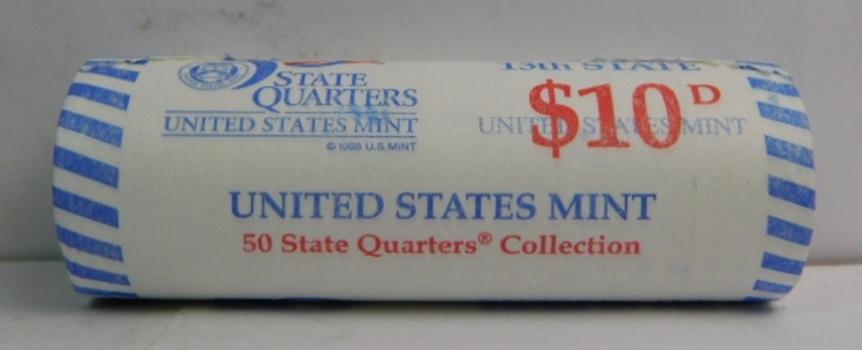 2001-D Rhode Island State Quarter ORIGINAL Brilliant Uncirculated Roll