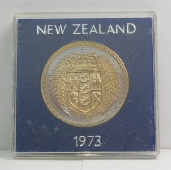 1973 New Zealand Commemorative Dollar - High Grade Brilliant Uncirculated - Low Mintage of Only 37,000!!!