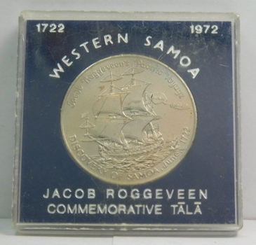 1972 Western Samoa Jacob Roggeveen Pacific Voyage 250th Anniversary Commemorative Tala - Low Mintage of Only 35,000!!!