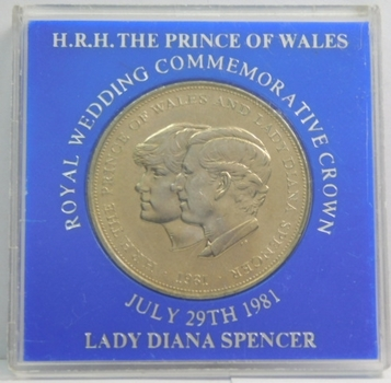 1981 Great Britain Wedding of Prince Charles and Lady Diana Commemorative Crown - High Grade Brilliant Uncirculated