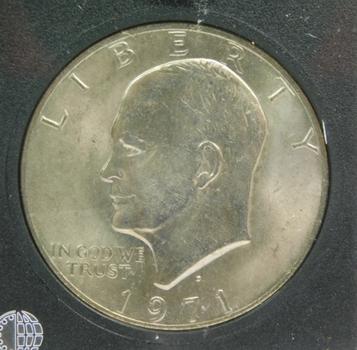 1971 Brilliant Uncirculated Ike Dollar Coin