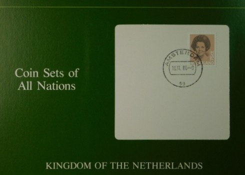 Kingdom of the Netherlands - Coins of All Nations - Five Uncirculated Coins with Cancelled Stamp