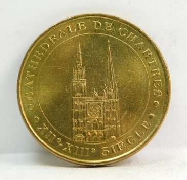 Chartres Cathedral Catholic Church Monnaie De Paris Commemorative Coin/Medal - 2002 Limited Edition