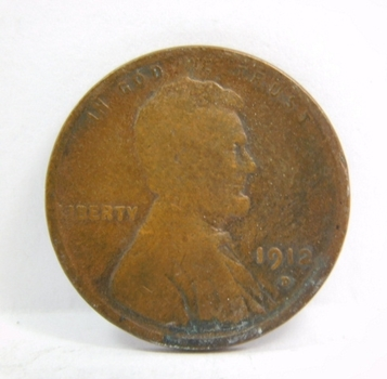 SCARCE DATE - 1912-D Lincoln Wheat Cent