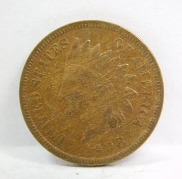 SCARCE DATE - Higher Grade - 1908-S Indian Head Cent - Nice Detail with LIBERTY Fully Visible