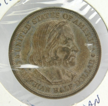 1893 Silver Columbian Expo Commemorative Half Dollar - Nice Detail