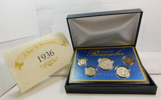 1936 Obsolete Silver Commemorative Year Set - A Year to Remember w/Historical Events from 1936