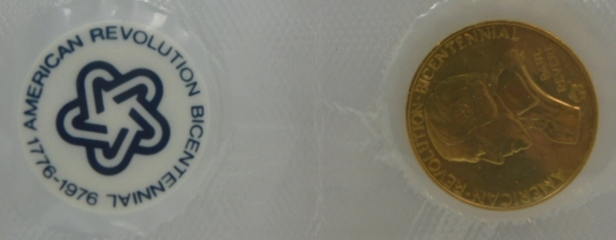 1975 American Revolution Bicentennial Coin/Medal - Lexington Concord - Paul Revere - Sealed in Original Mint Packaging