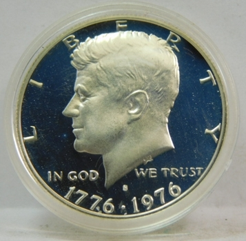 1976-S Proof Silver Kennedy Half Dollar - In Protective Capsule - DCAM