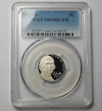HIGH GRADE!! - 2015-S Proof Jefferson Commemorative Nickel - Graded PR69 DCAM by PCGS