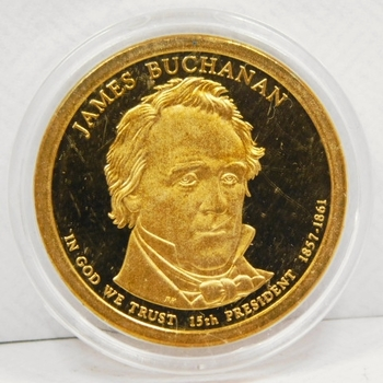 2010-S James Buchanan Presidential One Dollar Proof Coin