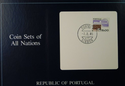 Republic of Portugal - Coin Sets of All Nations - Four Uncirculated Coins with Cancelled Stamp