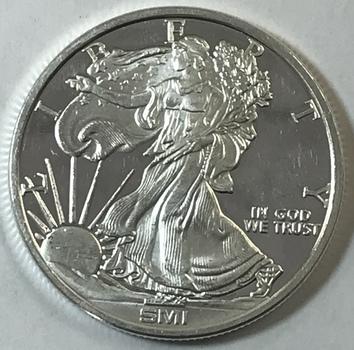Sunshine Mint Walking Liberty 1 oz .999 Fine Silver Round