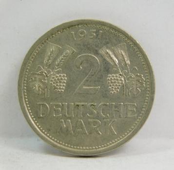 1951J Germany 2 Deutsche Mark