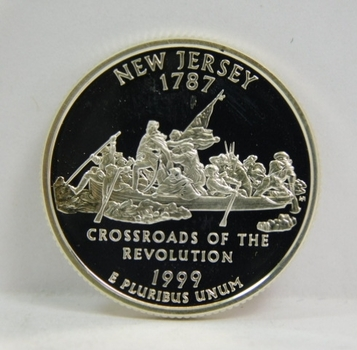 1999-S Silver Proof New Jersey State Commemorative Quarter - Excellent Detail and DCAM