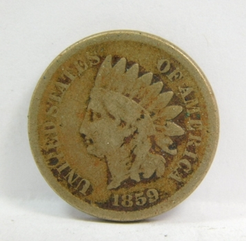 1859 Indian Head Cent - Well Outlined with Clear Date - Copper Nickel