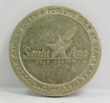 2002 Santa Ana Star One Dollar Gaming Token - Santa Ana Pueblo, New Mexico