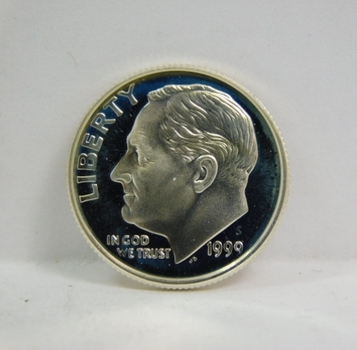 1999-S Proof Silver Roosevelt Dime - Excellent Detail and DCAM