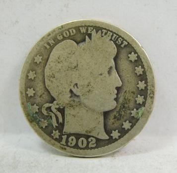 1902 Silver Barber Half Dollar