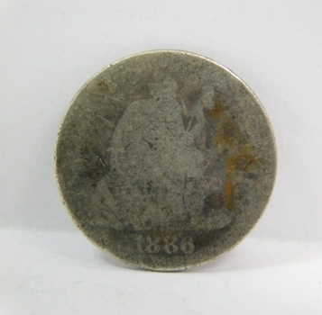 1886 Silver Seated Liberty Dime
