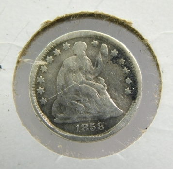 1858-O Silver Seated Liberty Half Dime