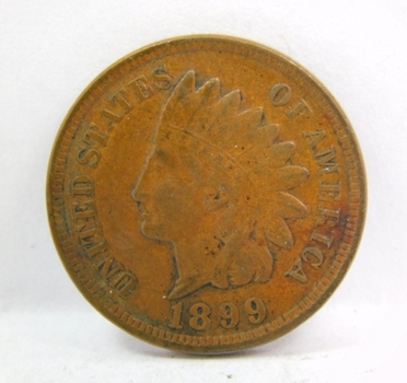 HIGH GRADE - 1899 Indian Head Cent - LIBERTY Fully Visible - Nice Detail