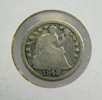 1848 Silver Half Dime